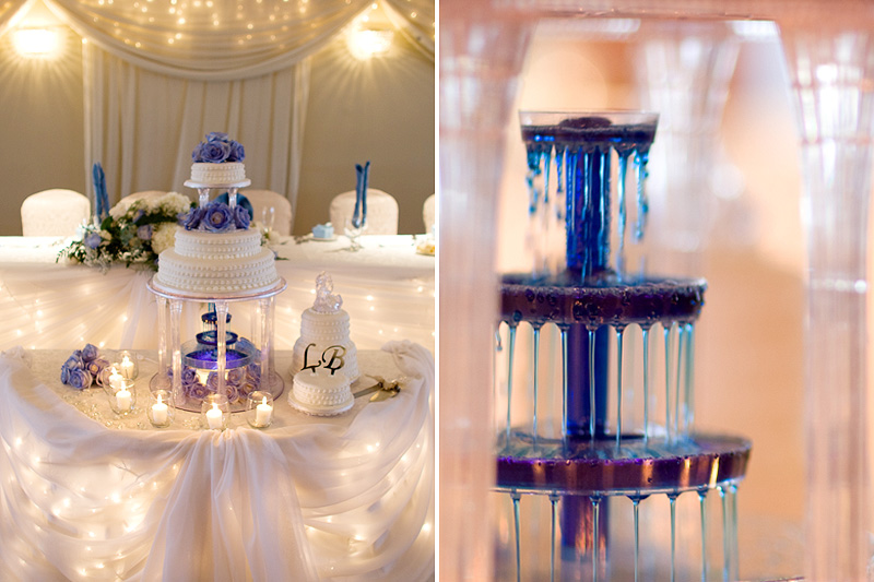 Water Fountain Wedding Cake