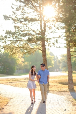 Main St Unionville engagement photos by Toronto Photographer Kevin Fung of Fungke Images